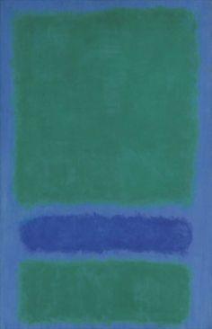 """Green, Blue, Green on Blue"" (1968) by american artist Mark Rothko"