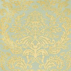 Terrazzo Damask #wallpaper in #metallic on #blue from the Damask Resource 2 collection. #Thibaut