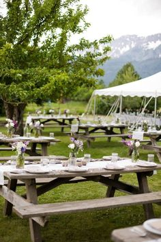 Feast Your Eyes On Some Creative Wedding Picnic Table Ideas Or Just Plain Love These Down To Earth Reception Is For You