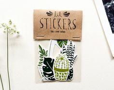 Cactus Pin Pin de acrílico Cactus broche por beetleinkco en Etsy