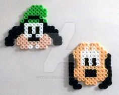 Walt Disney's Goofy and Pluto by SkellieBeads.deviantart.com on @DeviantArt