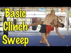 Muay Thai Clinch Techniques - A Basic, Simple Clinch Sweep. The Muay Thai Guy