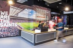 Southampton Football Club store by Green Room Design, Southampton – UK » Retail…