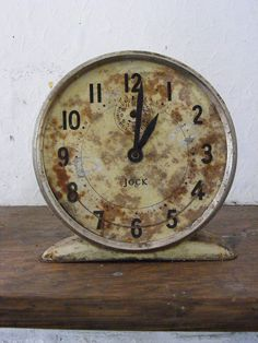 Clock aged with time