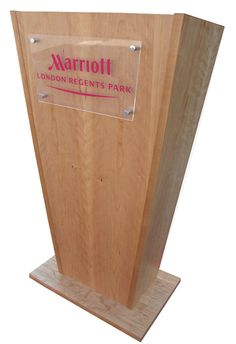 L6 Lectern,Available Options Permanent Logos Removable Light Padded Cover