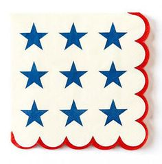 July 4th Napkins. See more party ideas and share yours at CatchMyParty.com