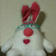 A gift from Kelsie when she was 3.  The nose squeaks. :)