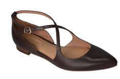 Brown Leather Brazilian Dance Shoes