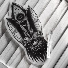 "1,217 Likes, 6 Comments - MATTCHAOS • Astral Occult Blaq (@mattchaos_tattoo) on Instagram: ""Custom Ouija Bat for a customer Astral Blaq Work, Lyon, Toulouse, Seoul, Berlin, Montpellier,…"""