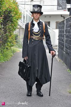 Hisahiko Akaza. Love his look.. The steampunk style looks great on the boys as well as the girls.