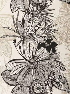 DecoratorsBest - Detail1 - CC W0025/02 - Hula - Ebony - Wallpaper - Fabrics - DecoratorsBest