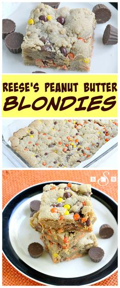 Reese's Peanut Butter Blondies - Butter With a Side of Bread