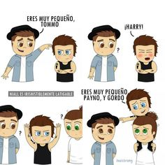 One Direction Fan Art, One Direction Cartoons, One Direction Drawings, One Direction Memes, One Direction Pictures, Larry Stylinson, James Horan, Desenhos One Direction, Larry Shippers