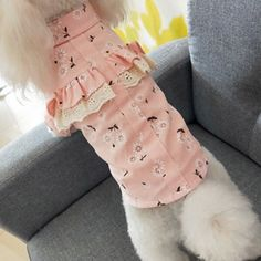 undefined Small Dog Clothes Patterns, Small Dogs, New Product, Floral Prints, China, Green Materials, Pets, Cotton, Products