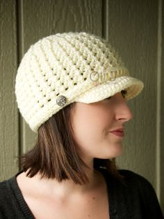Womens Brimmed Beanie  Cream/OffWhite by OliJAccessories on Etsy, $25.00
