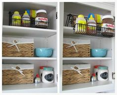 Awesome+post+on+how+to+organize+kitchen+cabinets.++Lots+of+ideas! Fold down units from Walmart