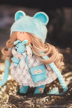 Cute textile doll | Интерьерная кукла – купить в интернет-магазине на Ярмарке Мастеров с доставкой