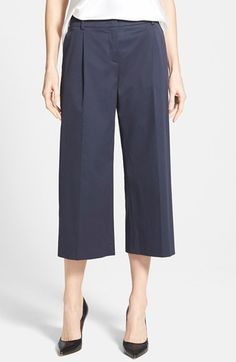 Free shipping and returns on Weekend Max Mara Wide Leg Crop Pants at Nordstrom.com. Polished stretch-cotton trousers go full-steam ahead into the nautical season in a wide-leg cut with pleat-front styling and cropped hems.