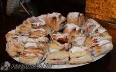 Hájas-leveles szilvalekváros sütemény recept Ternóczky Nóra konyhájából - Receptneked.hu Hungarian Cake, Hungarian Recipes, Hungarian Food, Pastry Recipes, Cookie Recipes, Bread And Pastries, Sweet And Salty, Cake Cookies, Apple Pie