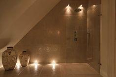 Loft shower room lighting John Cullen Lighting