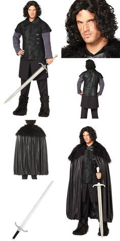 Game of Thrones Jon Snow Adult Mens Costume, Deluxe Cloak, Wig and Longclaw Sword – Spirit Halloween Hallowen Costume, Family Halloween Costumes, Halloween Kostüm, Halloween Cosplay, Spirit Halloween, Got Costumes, Crazy Costumes, Costume Ideas, Kit Harrington