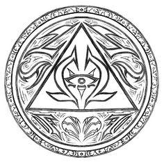Aztec symbol of truth and wisdom. by ashleyw