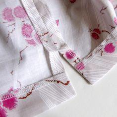 The Haby Goddess: Tutorial : Sewing perfect hemline slits terminación de ruedos y aberturas inferiores en franelas