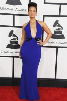 Best Of 56th GRAMMYs Red Carpet - Alicia Keys - Best R&B Album winner Alicia Keys stuns on the red carpet at the 56th Annual GRAMMY Awards on Jan. 26 in Los Angeles