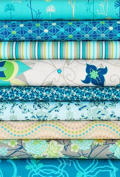Blue Mood in Revive Fabric by Pat Bravo, via Flickr