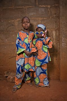 Cool siblings . Benin
