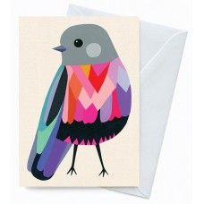Greeting Card – Rose Robin - Designed by Inaluxe for Earth Greetings.