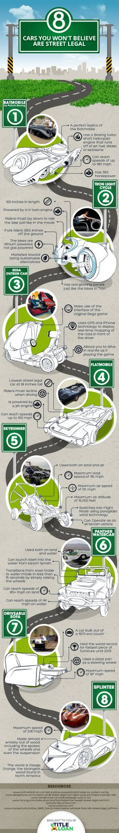 8 Cars You Won't Believe Are Street Legal   #Infographic #Cars #Entertainment