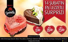 Sevgilinize en lezzetli hediyeniz Gurmella dan… Sevgililer Gününe özel hazırlanmış pastanız mağazalarımızda sizleri bekliyor… #sevgililergunu
