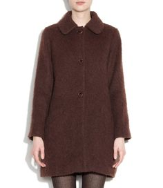 APC Dolly coat in alpaca.  but don't like the brushed texture.