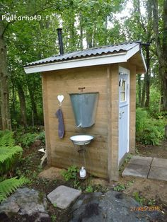 Fun She Shed Conversion Ideas Untitled Outside Toilet, Outdoor Toilet, Outdoor Baths, Outdoor Bathrooms, Outdoor Showers, Building An Outhouse, Shed Conversion Ideas, Outhouse Bathroom, Composting Toilet