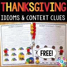 These FREE Thanksgiving games make practicing and reviewing idioms and context clues fun. Learn how to play so that you can start using them in your reading centers tomorrow!