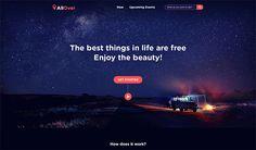 Travel around the galaxy website on Behance