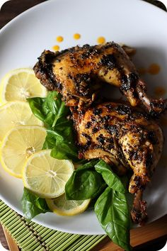 Lemon Basil Chicken Thighs {mind-over-batter.com}