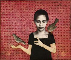 Piia Lehti: Kuuntelemisen taito / Gift of Listening, 2012 The Art Of Listening, Witch Spring, Artist At Work, Illustration, Painting, Mixed Media Art, Art, Nature Inspiration, Graphic Art