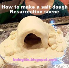 """Make a resurrection scene for Easter using salt dough! """"We Talk of Christ, We Rejoice in Christ"""" #MyForeverFamily"""