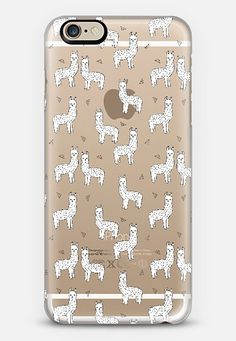 Cute Alpacas - Llamas on Transparent Case by Andrea Lauren iPhone 6 case by Andrea Lauren | Casetify