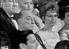 """Buster and Eleanor Keaton Buster and Eleanor  taken by the camera during """"The Opening of The Accademy Awards  1965  I took this frame from youtube at 8.08 eva79 https://www.youtube.com/watch?v=jeOT_048GtA"""