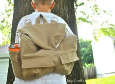 Boy, Oh Boy, Oh Boy Crafts: S Is For Sewing: Looseleaf Knapsack Pattern Review