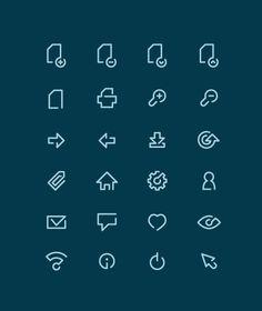 Line icons by Tomek Kowalik, via Behance
