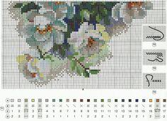 Схема вышивки Белый шиповник (Riolis) 2 из 2