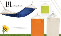 €40 for a Garden Hammock with Cushion in a choice of colours from Life's Simple Luxuries! - Branded Promotional Products L... - Mega Deals from Pigsback.com