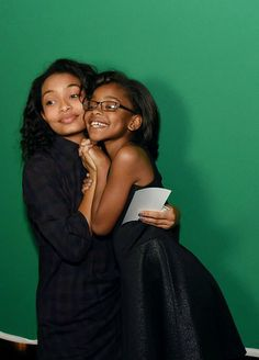nnekbone:soph-okonedo:Yara Shahidi and Marsai Martin of 'black-ish' celebrate the end of season one at a wrap party sponsored by Mercedes-Benz on Thursday, March 19th, 2015  Sistas.