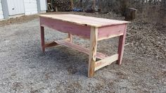 Rough cut cedar coffee table