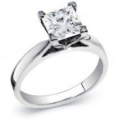 Princess Cut Diamond Solitaire Ring 1.00 Carat