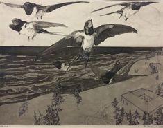 Klemens Brosch *Austria On the Beach, 1912 – capture Nicholas Roerich, Caspar David Friedrich, Andrew Wyeth, Rene Magritte, Marc Chagall, Grafik Design, Vincent Van Gogh, Painting & Drawing, Austria